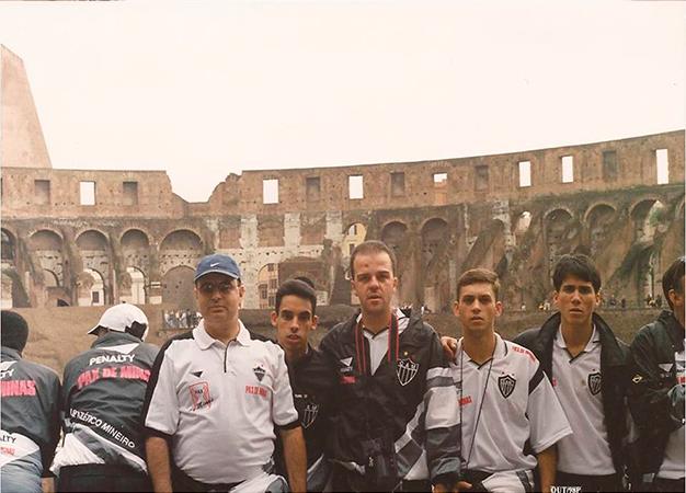Atlético em Roma, antes do Mundial.