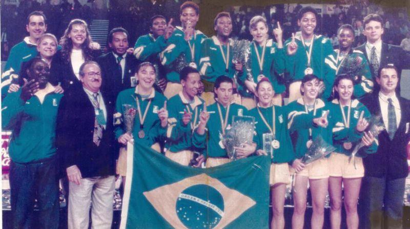 Brasil Campeão Mundial de Basquete Feminino 94