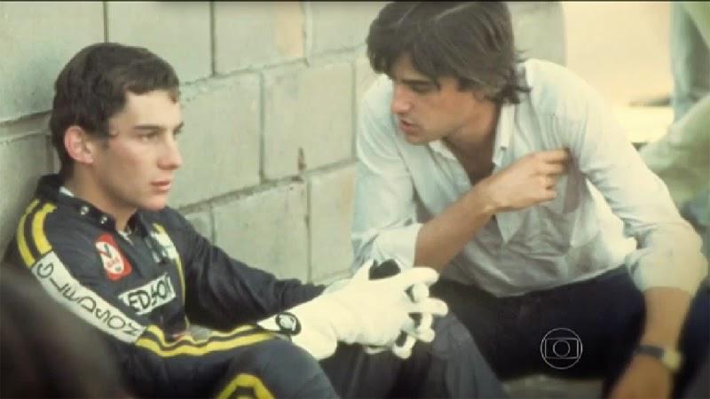 Ayrton Senna e Tchê.