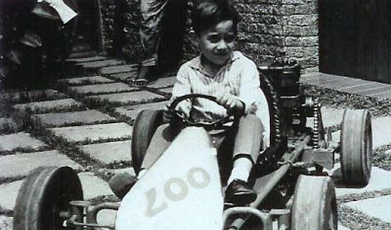 O primeiro kart de Ayrton.
