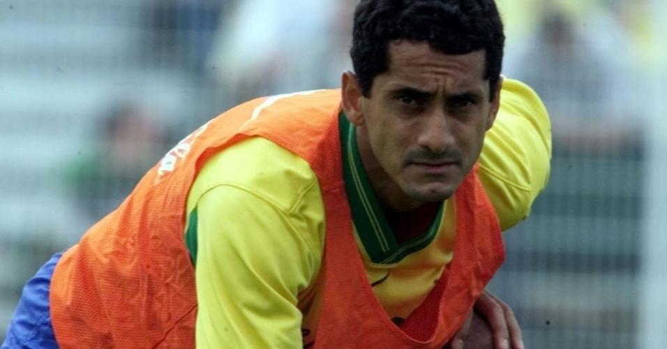 Zé Carlos durante os treinos da seleção.