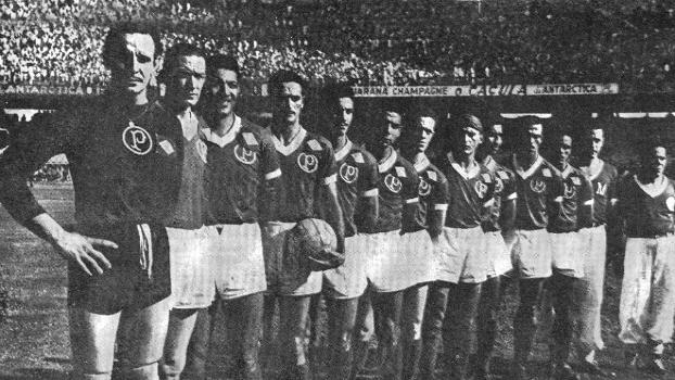 Time do Palmeiras que ganhou a Copa Rio, em 1951.