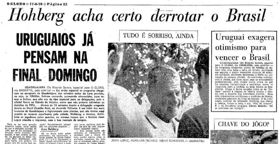 Holberg é destaque na capa do Globo.