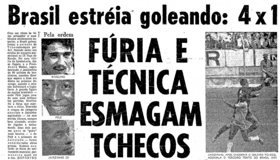 Manchete do O Globo.