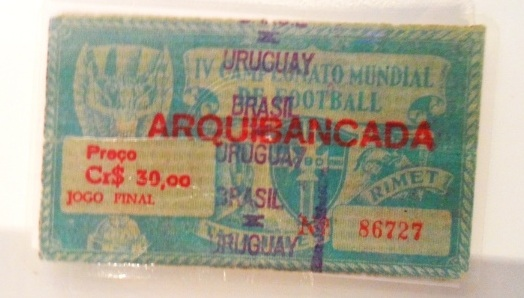 Ingresso da final da Copa do Mundo de 1950.