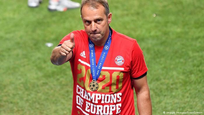 Hansi Flick após a vitória sobre o PSG na final da Champions League.