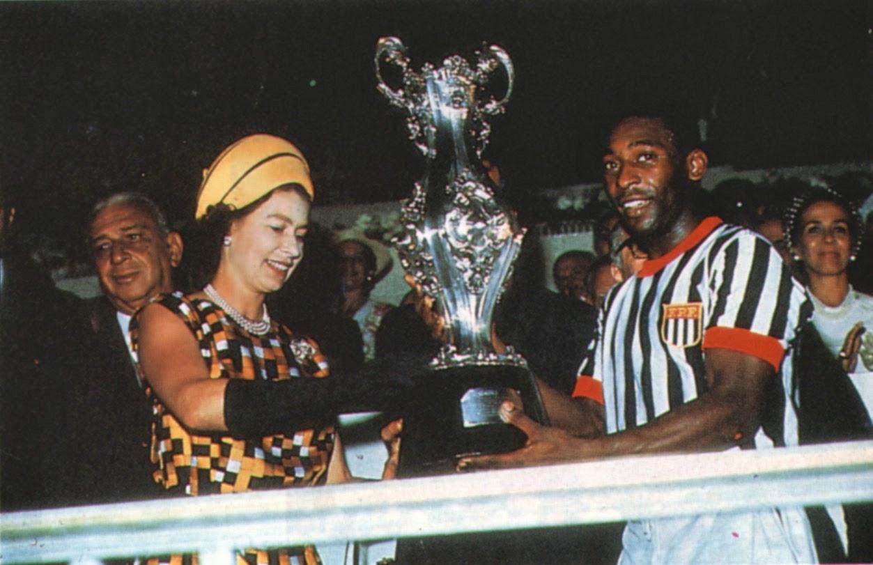 Pelé e a Rainha Elizabeth II